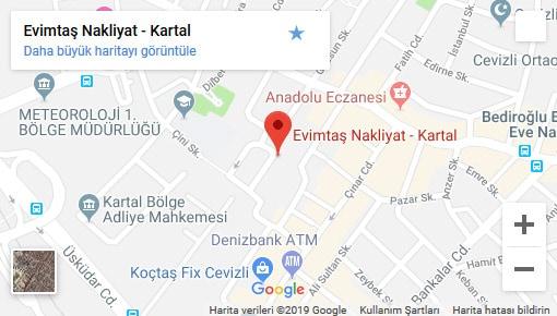 Evimtaş Nakliyat İstanbul Harita